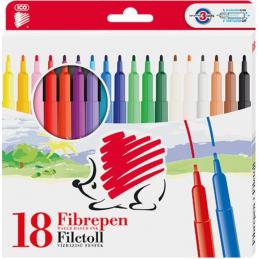 Flomasteriai ICO, 18 spalvų