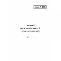 Asmens medicininė knygelė,...